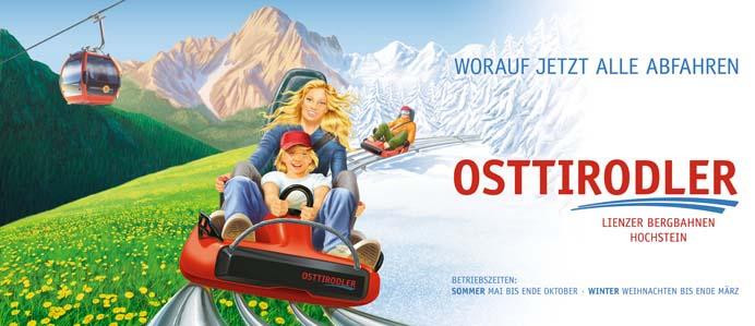 Zomer En Winterrodelbaan Lienz Vakantie Tirol